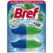 WC illatosító gél utántöltő, 2x50 ml, BREF \Duo Aktív\, fenyő