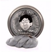 """Quicksilver with Magnet Magnetic Crazy Aaron's Thinking Putty New lg 4"""" tin 3.2 OZ"""