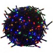 Karácsonyi LED világítás 10 m - színes 100 LED - zöld kábel