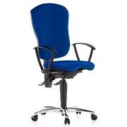 Hjh Sedia ergonomica ERICE, omologata per 8 ore d'uso, con marchio qualità LGA, Topstar, in colore blu