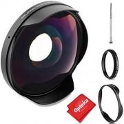 Opteka Titanium Series 0.3X HD Ultra Wide Fisheye Lens for Canon, Sony Camcorders with 58mm Threads lente de ojo de pez