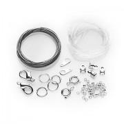Collier- & Armband-Set, silber