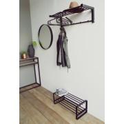 Spinder Design Bergum wall coat rack svart