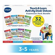 VTech Touch and Teach Activity Desk Deluxe 4-in-1 Kindergarten Bundle Expansion Pack for Age 3-5