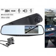 NavGear HD-Rückspiegel-Dashcam mit G-Sensor, 10,9-cm-Display & Rückfahr-Kamera
