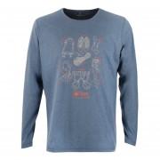 Polera Lippi Insigne Cotton T-Shirt L/S Hombre Azul Piedra
