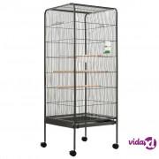 vidaXL Kavez za ptice sivi 54 x 54 x 146 cm čelični
