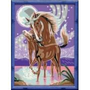 Лошадка под луной 18 x 34 (раскраска)
