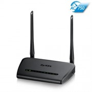 ZyXEL NBG-6515 Simultaneous Dual-band Wireless AC750 Home Router, 802.11ac (300Mbps/2.4GHz+433Mbps/5GHz)