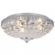 [lux.pro]® luz de techo - Lámpara de techo colgante - Cristales de Arte centelleantes (3 x E14) - cromo