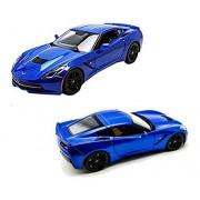 New 1:18 W/B Special Edition Blue 2014 Chevrolet Corvette Stingray Z51 Diecast Model Car By Maisto