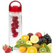 Kudos Fruit Infuser Water Bottle Infusion BPA Free Transparent Plastic Detox Drink Juice Bottle Pack of 1
