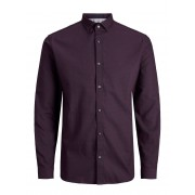 JACK & JONES Slim Fit Overhemd Met Lange Mouwen Heren Rood / Winetasting / XL