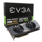 TARJETA DE VIDEO EVGA 06G-P4-4995-KR GTX 980 Ti SC+BACKPLATE 6GB GDDR5