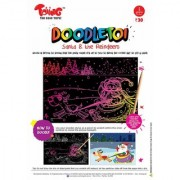Toiing Doodletoi Return Gift Combo - 3 Packs of Magical Colourful Scratch Art Drawing Papers (1 Pack 3 Sheets)
