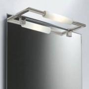 Decor Walther New Beta 1 Spiegelaufsteckleuchte B: 34 T: 10 cm, nickel satiniert 0406134, EEK: C. Diese Leuchte ist geeignet für Leuchtmittel der Energieklassen: C, D, E.