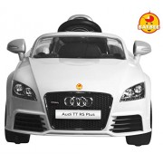 BAYBEE Officially Licensed Audi Tt RS Plus Battery Operated Sports Car With R/C (White)