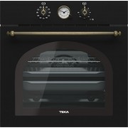 Cuptor multifuncţional incorporabil Teka HRB 6300 AT, Electric, 70 L, 9 funcţii, Teka HydroClean, Timer analogic, Functie Turbo, Finisaj negru antracit rustic, 111010010
