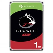 "Seagate IronWolf Disco Duro Interno NAS de 1 TB (3,5"", SATA, 6 GB/s, 5900 RPM, caché de 64 MB para Almacenamiento Conectado a Red Raid) Embalaje abrefácil (ST1000VN002), Disco Duro IronWolf, 1 TB"