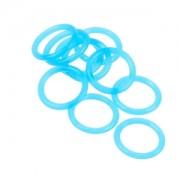 Set 10 inele Bitspower UV Blue din silicon pentru fitinguri G1/4