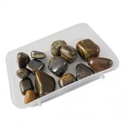 eshoppee 100 gm tiger eye stone tumble 100% natural genuine original tumbled kit, crystal healing gemstones (tiger eye)