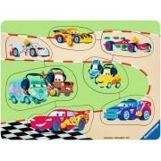 Puzzle din lemn Ravensburger - Cars, 7 piese (03686)