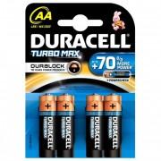 Baterii AAK4, alcalina, 4 bucati, DURACELL Turbo Max Duralock