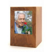 Houten Photobox Urn Berk (3.5 liter)