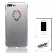aleacion de aluminio de nuevo caso w / anillo de soporte para IPHONE 7 PLUS - plata