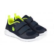Pantofi Sport Baieti Bibi Easy Bleumarin/Galben Fosforescent