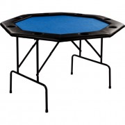 Póker asztal 8 személyes GARTHEN - kék