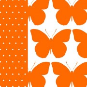 Lunchservet Bright Butterfly orange