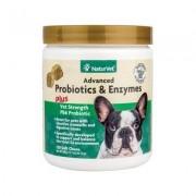 NaturVet Advanced Probiotics & Enzymes Plus Vet Strength PB6 Probiotic Soft Chews Dog Supplement, 120 count