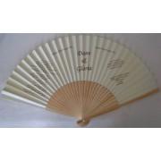 Paper & Bamboo Wedding Invitation/Program Fans