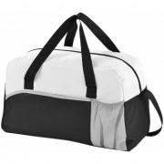 Geen Duffel bag/sporttas zwart/wit 43 cm