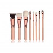Brocha De Maquillaje Colorete Sombra 8pcs-oro
