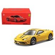 Ferrari 458 Speciale Yellow Signature Series 1/43 Model Car by Bburago