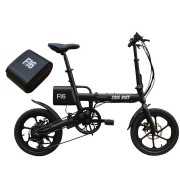 CMS-F16 Extra Battery Set 36V 7.8AH 250W Black 16 Inches Folding Electric Bicycle 20km/h 65KM Mileage Intelligent Variable Speed System With An Extra Battery