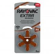 Set baterii Rayovac 312 pentru aparate auditive, 6 bucati