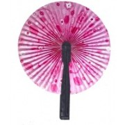Deal4Online Foldable Floral Print Pink Hand Fan(Pack of 1)