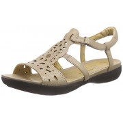 Clarks Women's Un Valencia Sand Brown Leather Fashion Sandals - 3.5 UK/India (36 EU)