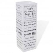 vidaXL Suporte guarda-chuvas/de armazenamento quadrado branco aço 48,5 cm