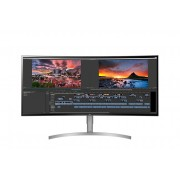 "Monitor IPS, LG 38"", 38WK95C-W, Curved, LED, 5ms, 1000:1, HDMI/DP, Speaker, 21:9, 3840x1600"