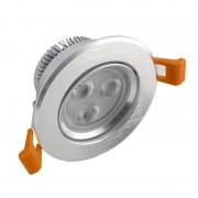 MasterLed - Foco LED circular direcionável 3W prata - MasterLed