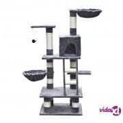 vidaXL Penjalica za Mačke 122 cm Sivi Pliš