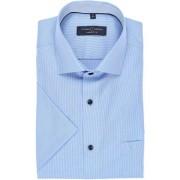 Casa Moda Comfort Fit Hemd Kurzarm blau, Einfarbig