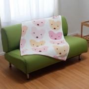 京都西川/かわいいクマのひざかけ クォーターケット
