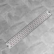vidaXL Rigolă duș liniară din oțel inoxidabil, model linie, 830x140 mm