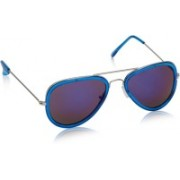 Swiss Design Aviator Sunglasses(Blue, Violet)