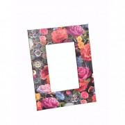 Képkeret virágos papír 18X23cm színes